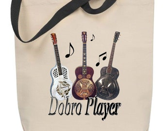 Dobro Player Tote Bag