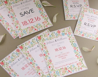 Personalised Wedding Invitations & R.S.V.P's
