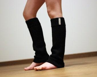 Black leg warmers, Alpaca wool knit leg warmers for baby, infant, toddler, children, kid, beige, brown, navy,mustard  knitted boot socks