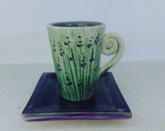 New! Lavender cup/ Νέο! Φλυτζανάκι Λεβάντα