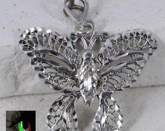 Sterling Silver - Filigree Scroll Butterfly 4.2g - Pendant