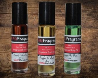 DRAGON'S BLOOD Fragrance Body Oil - 1/3oz Roll-On bottle - 100% UNCUT