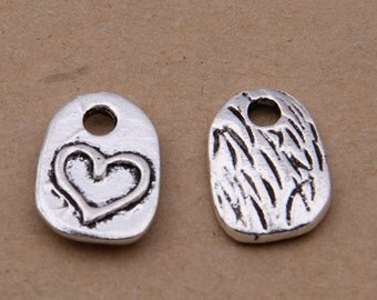 100pcs 10x14mm Antique Silver Heart Charm Pendants Cute Charm Pendant Yxk3