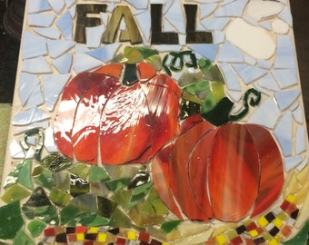 Fall garden mosaic