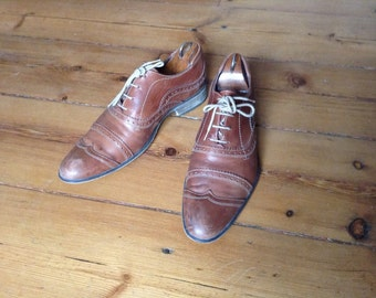 C1 Oxford Shoes Vintage Richelieu british brown shoes size 41