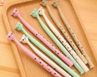 1 Bullet Journal Pen • Cute Kawaii Cat Pen • Darling Kitty Fancy Gel Pens • Bullet Journal Starter Kit BuJo Planner Journal • Planner Pens