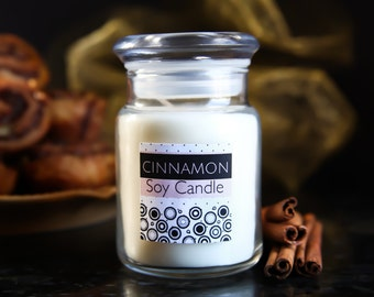 Cinnamon Soy Candle//Scented Candles//Soy Candle//Scented Soy Candles//Cinnamon Scent//Fall Candles//Christmas Candles//Container Candles