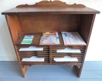 French vintage post office box/Cabinet/French post letters closet/post office france