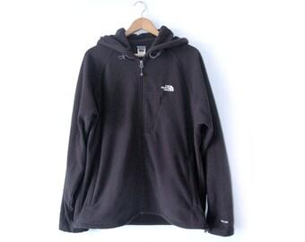 North Face black fleece hoody