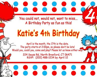 party invitation size