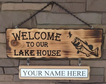 Lake House Welcome Sign