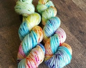 """Hand Dyed Yarn.  Indie Dyed Yarn.  SW Merino Worsted Weight Yarn.  """"Jaw Breakers"""""""