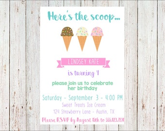 Here's the scoop 2  - Ice Cream Party