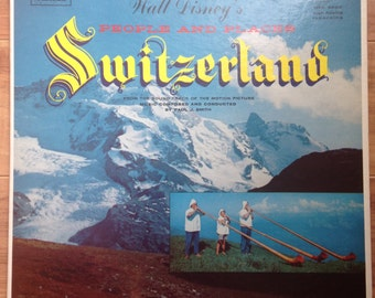 Walt Disney's People and Places: Switzerland Samoa 1957 Vinyl