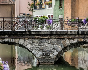Bicycle in Annecy, France Photography, Rural France, South east France, Wall Art, Summer in France, Fine Art Print, Bicycle, Art Photography
