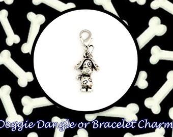 SALE! Adorable Doggie Dangle or Bracelet Charm.