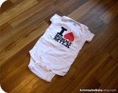 Baby Onesie, Breastfeeding Onesie, I Love Mommy Milk, 12 Months, Nursing, Funny Baby Gift, Gerber
