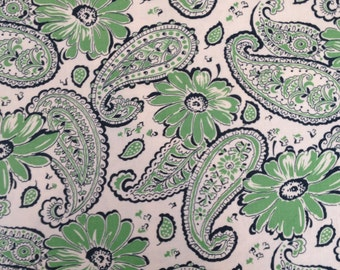 Length of Vintage Cotton Paisley Fabric