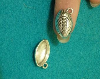 10 rugby Tibetan tibet silver charms pendants antique wholesale UK 17mm