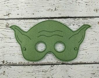Yodi Children's Felt Mask  - Costume - Theater - Dress Up - Halloween - Face Mask - Pretend Play - Party Favor