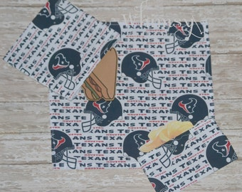 Texans, Texans Lunch set, reusable sandwich bag, reusable snack bag, cloth napkin, ecofriendly lunch set