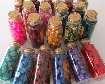 60 Pcs Sealing Wax Beads in Bottle Wax Sticks for Wax Seal Stamp ---20 Clolors