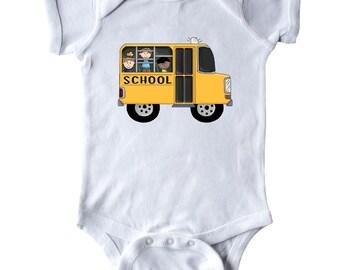 School Bus Infant Creeper by Inktastic
