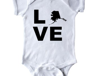 Love Alaska Infant Creeper by Inktastic