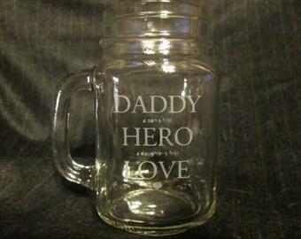 Daddy's Mason Jar Mug, Perfect Father's Day Gift Idea