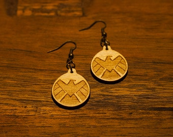 Marvel Agents of SHIELD Earrings - Coulson May Ward Daisy Hydra Calvary