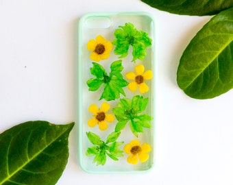Pressed Flower iPhone Bumper Cases for iPhone 5/5S/SE, Real Flower Phone Case, Pressed Flower Phone Case, iPhone Case, Bumper Case