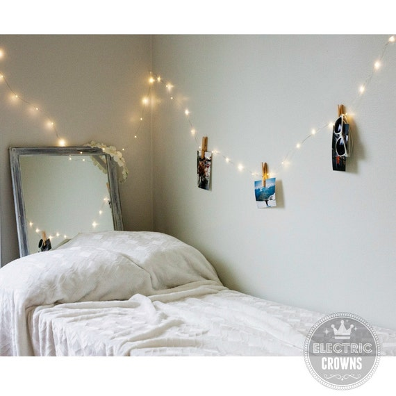 String White Lights Bedroom : Home Decor Hanging Lights Fairy Lights Bedroom by ElectricCrowns
