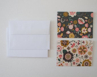 stationary cards, bridesmaid gift, stationery set, note cards, note card set, modern stationary, floral stationery, floral note cards