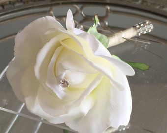 real touch rose boutonnire cream real touch rose boutonnire real touch rose bouquet