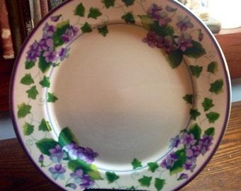 "Sweet Violet, Waverly Garden Room, 10 3/4"" Dinner Plates, shabby chic, cottage, mismatch"