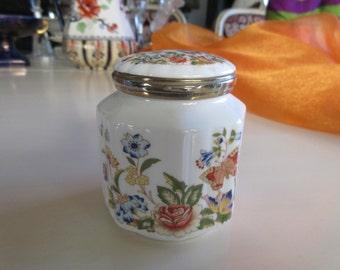 ENGLAND AYNSLEY JAR with Lid