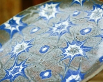 Stoneware plate with Stars - Serving plate - Dining plate