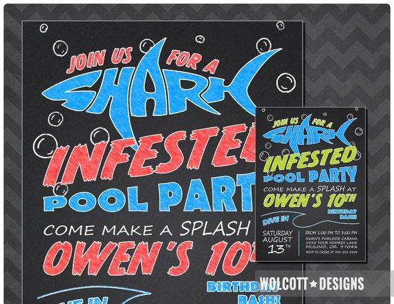 shark invitation shark invite shark party pool party pool party