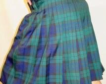 Black Watch Tartan Plaid Men's Kilt~Hiking Kilt~Black Blue Green Plaid kilt~Recreational kilt~Wedding Sport's Kilt Custom make@sohoskirts