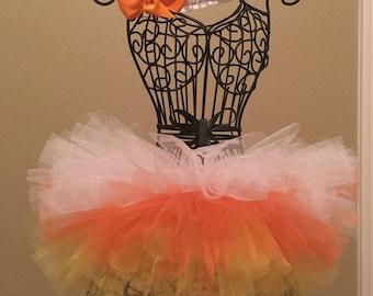 Candy Corn Newborn tutu set