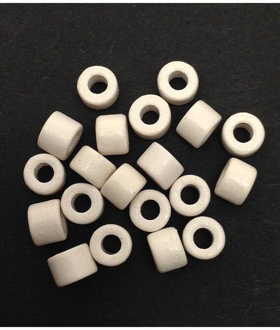Keramik Zylinder blau 6mm 100 Stück Keramikperlen Keramik Tuben ceramic beads
