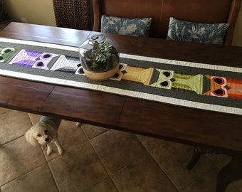 Owl Woodland Creature Extra Long Table Runner
