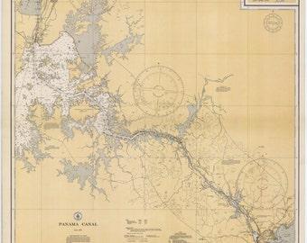Panama Canal Map 1934