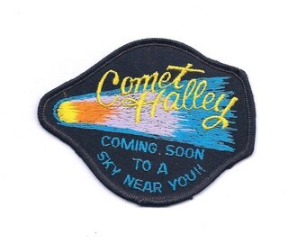 Vintage Comet Halley Space Patch