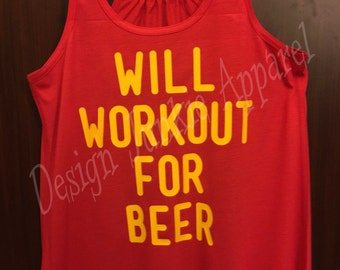 Will Workout For Beer - Relaxed Racerback Tank
