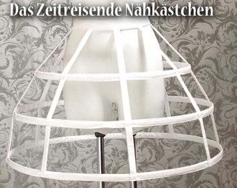 Short hoop skirt, cage hoop skirt, Crinoline, white
