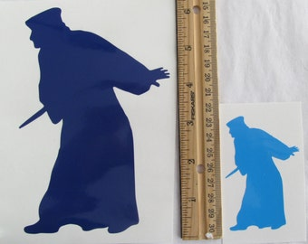 Vinyl Gamer RPG Car Window Decal Sticker Male Monk, Priest or Assassin with Dagger Silhouette Role Playing Game Gaming D&D Dungeons Dragons