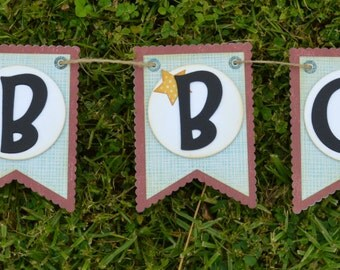 Handmade Summer Banner, BBQ Banner, Party Banner