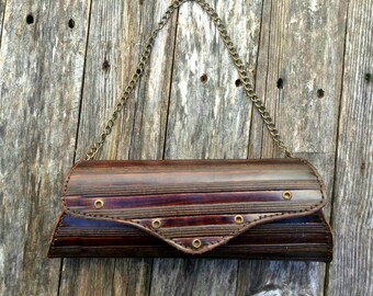 brown leather clutch-Leather clutch-lifetime Fully purse-womens handbag-handmade clutch-leather anniversary gift for her-leather purse