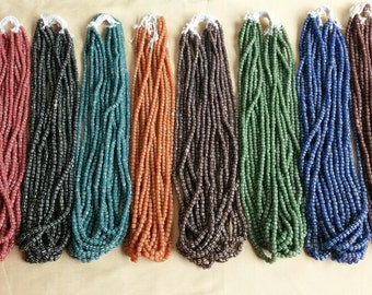 100 strands exotic wholesale  Indonesian beads new indopacific 60 cm longstrands